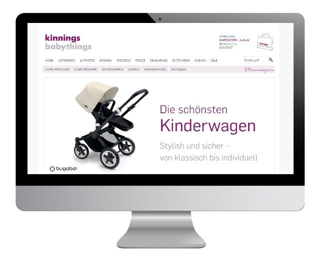 Online Shop für Münchens größten Babymarkt